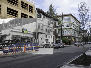 Arai Grocery, Seattle, 1937 and 2015