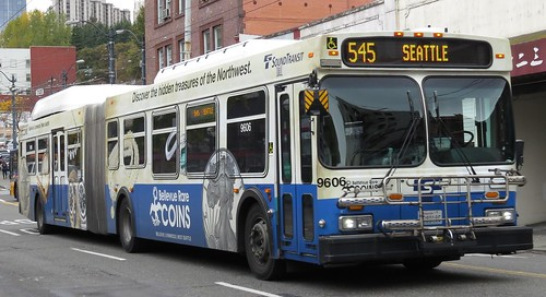 Sound Transit 2004 New Flyer DE60LF 9606K (Bellevue Rare Coins wrap)