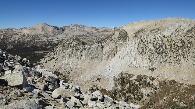Golden Creek Canyon, the Pioneer Basin, and peaks beyond