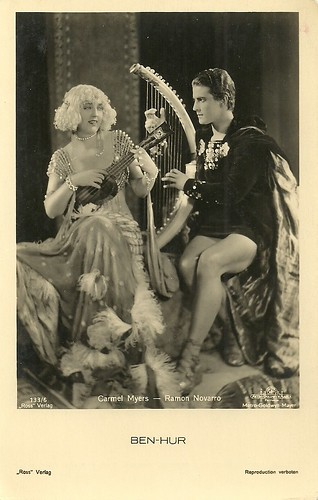 Carmel Myers and Ramon Novarro in Ben-Hur (1925)