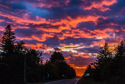 highway27 highway73 minnesota minnesotastatehighway27 minnesotastatehighway73 mooselake clouds sunset unitedstates us