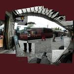 Bridgnorth Platform #Bridgnorth #svr #severnvalleyrailway #gwr #nofilter #cerisinfield #ceriphotomontage #hockneyesque #hockneyinspired #instalike #instagrames #traincarriage #platform #railwaymansarms