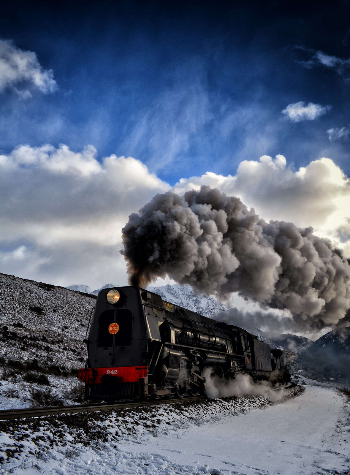Steam in the Alps by Steve Burrows