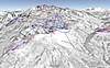 Mapa Alpe d´Huez