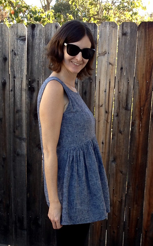 gathered tunic side crop | by noellelavoie