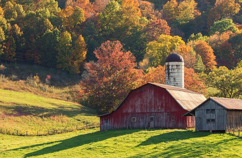 Red Barn in Fall Colors [Explored] | by Whisle (Clyde Cornett)