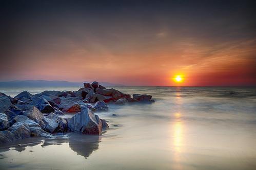 travel sunset beach landscape mexico boulders pacificocean nuevovallarta puertovallarta neutraldensity rivieranayarit