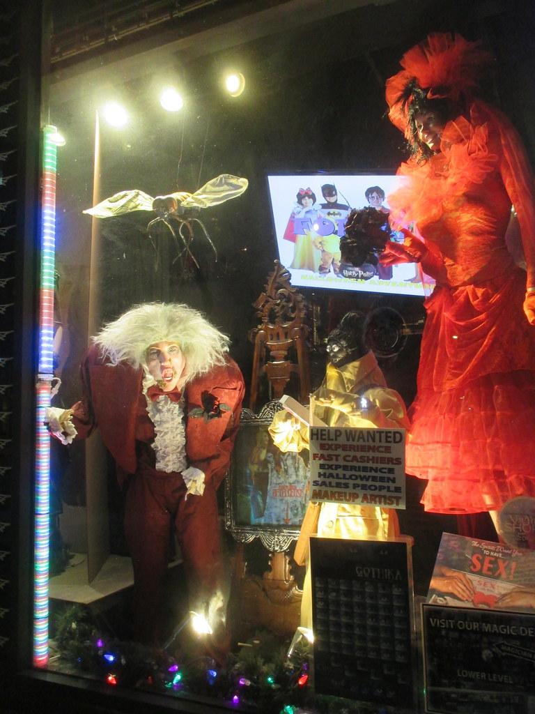Beetlejuice Wedding Halloween Adventure Store Window Displ ...