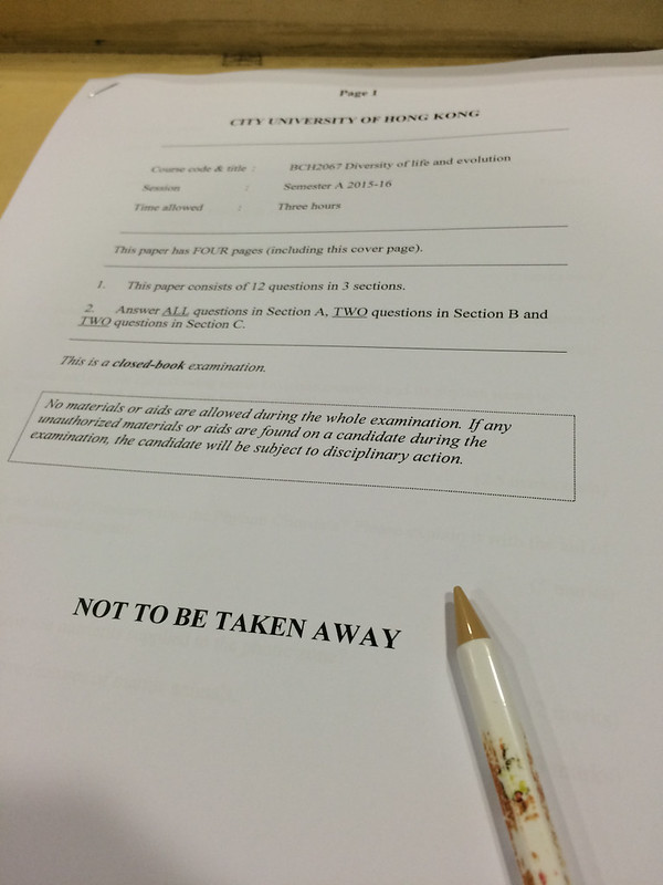 Tang, Christine; Hong Kong - Final Exams