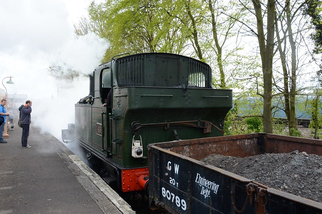GWR 0-4-2T no. 1450, built 1932, on loan from the Severn Valley Railway