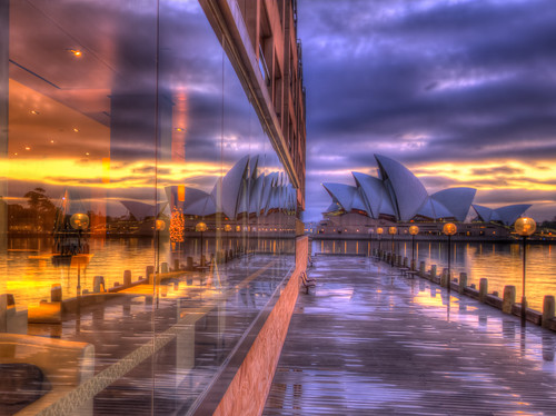 ocean pink sea orange water rain yellow sunrise canon reflections tripod sydney magenta violet australia shore hdr sydneyoperahouse parkhyatthotel mariobekes mariobekesphotography