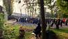 Gedenkveranstaltung vor dem Denkmal der Billeder auf dem Karlsruher Hauptfriedhof