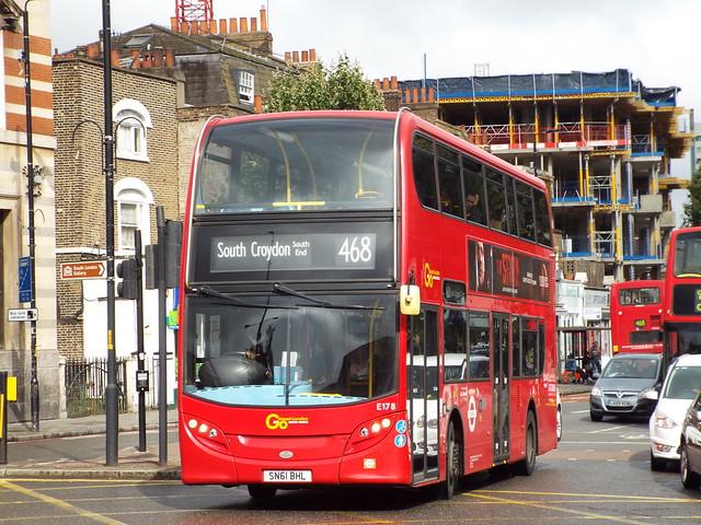 London Central E178, SN61BHL - Route 468 | Denmark Hill/ Camberwell Green