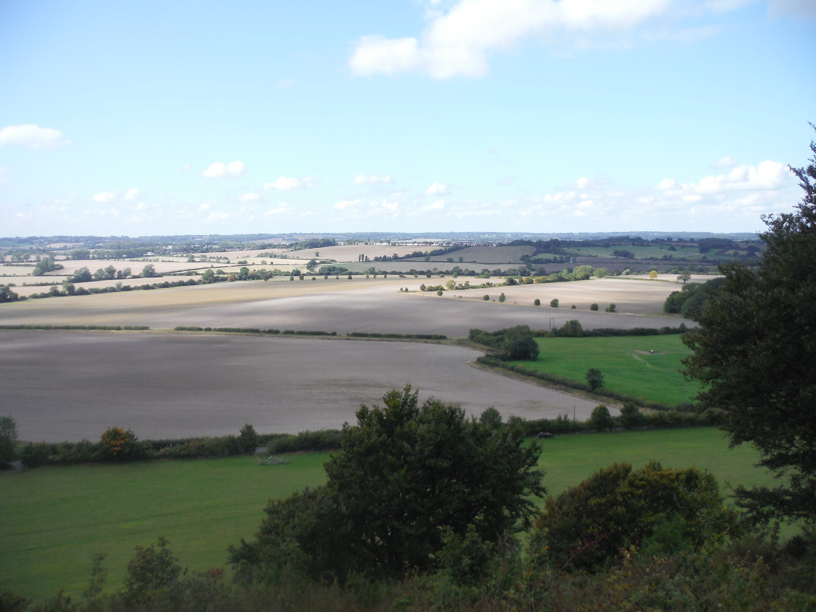 Westerly views from Sharpenhoe Hillfort Site SWC Walk 230 Harlington to Flitwick