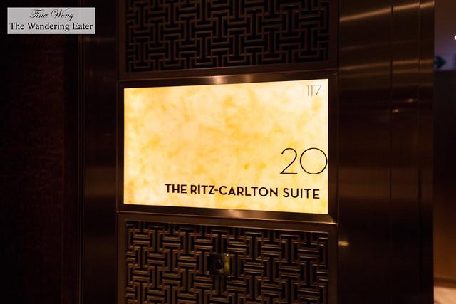 Entering The Ritz-Carlton Suite