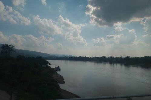 Der Mekong - Landesgrenze zwischen Thailand und Laos