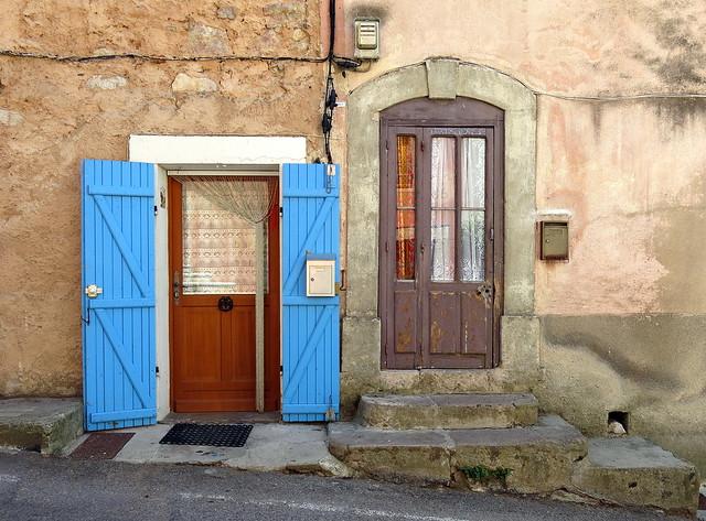 Two doorways, Pontevès, Var, Provence, France