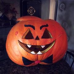 Nice #pumpkin for #halloween #decoration at #chocolaterie #kaunas