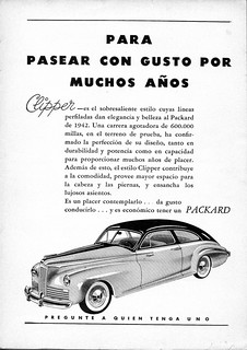 1942 Packard Clipper Club Sedan Ad (Argentina)