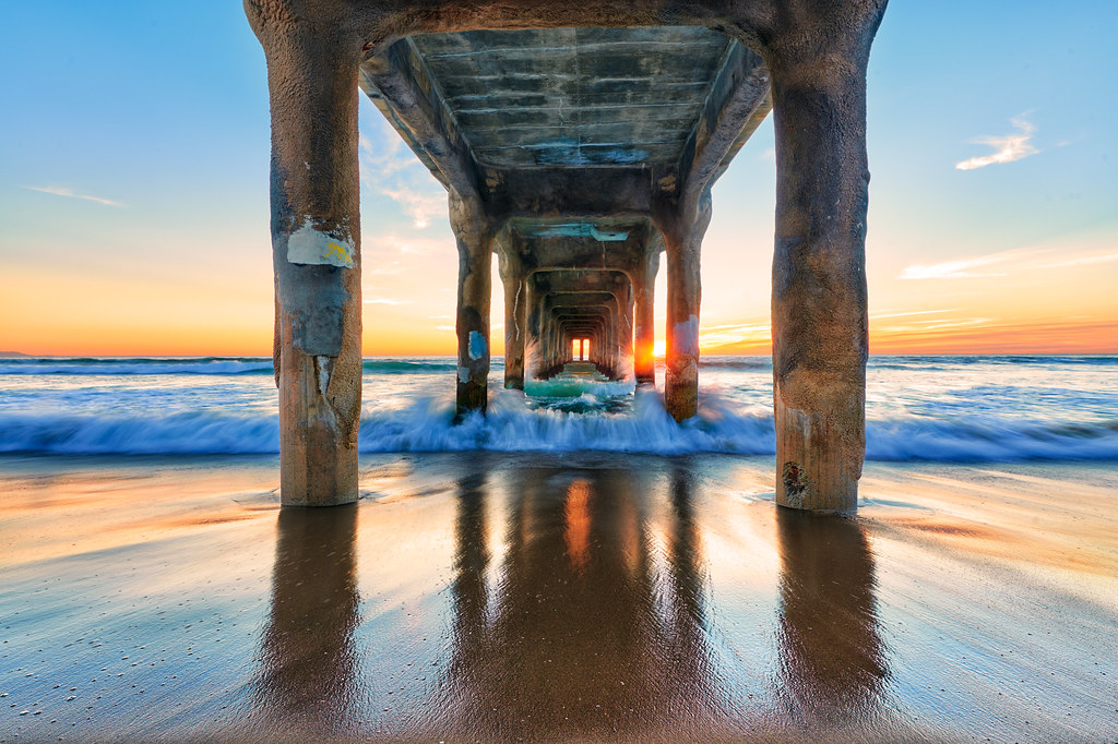 Manhattan Beach Wallpaper: Manhattan Pier, Manhattan Beach