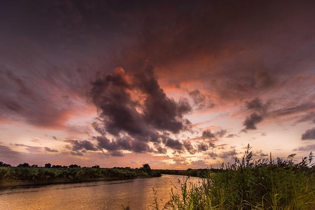 Aquitaine-Biganos-Red Sky