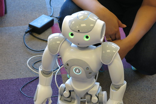 Nao robots - Fun Palaces, Central Library Peterborough