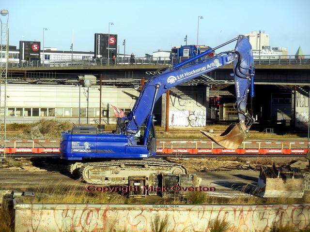 Demolishing former goods yard vehicle + container unloading dock