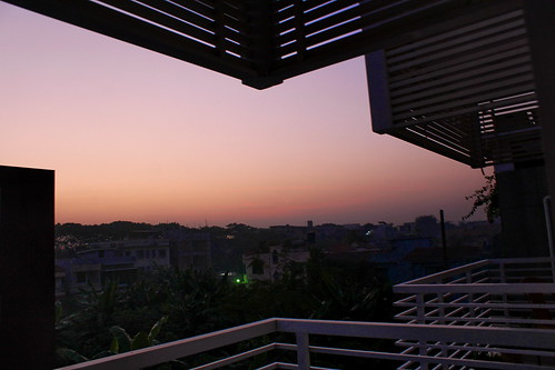 dawn nikunja dhaka sunrise veranda balcony suburban urban urbansunrise