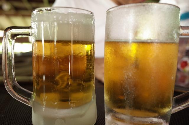 <p>キンキンに冷えたグラス</p>