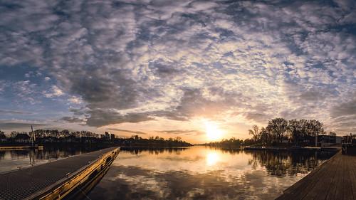 himmel expressivesky sunset sonnenuntergang münster wolken aasee reflektion wasser