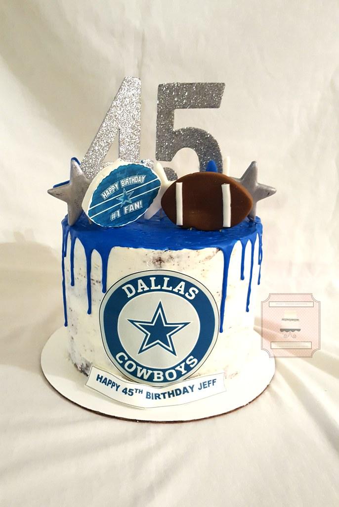 Tremendous Dallas Cowboys 45Th Birthday Cake 8In 45Th Dallas Cowboys Flickr Funny Birthday Cards Online Alyptdamsfinfo