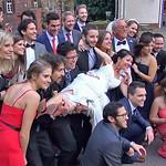 Das Brautpaar mit Verwandten und Freunden: einige sind aus Brasilien, Gran Canaria, Spanien, Estland und Polen angereist.