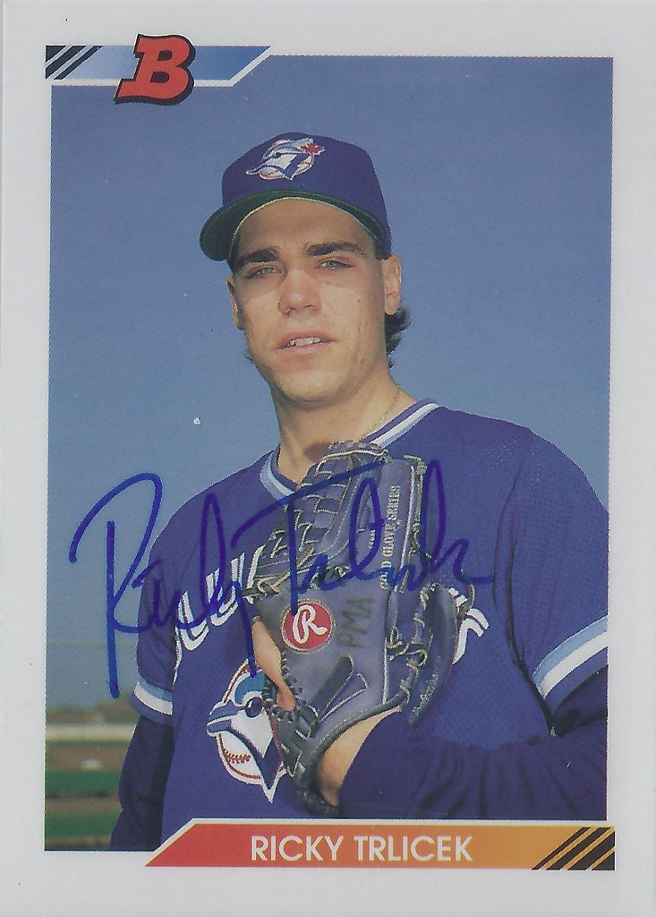 1992 Bowman Ricky Trlicek 76 Pitcher Autographed Ba Flickr
