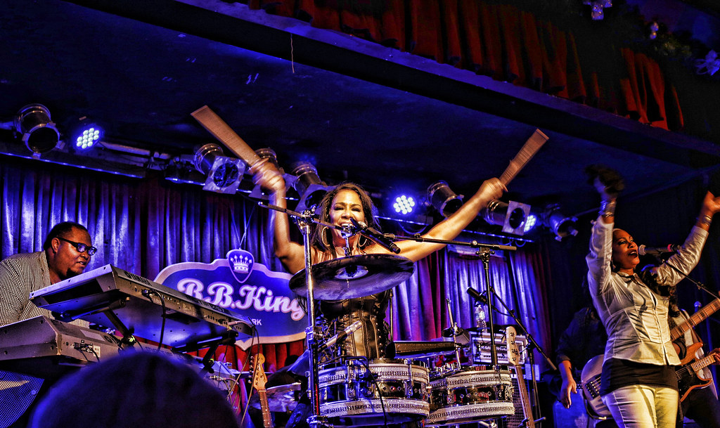 Sheila E., the Queen of Percussion, played drums for Prince.
