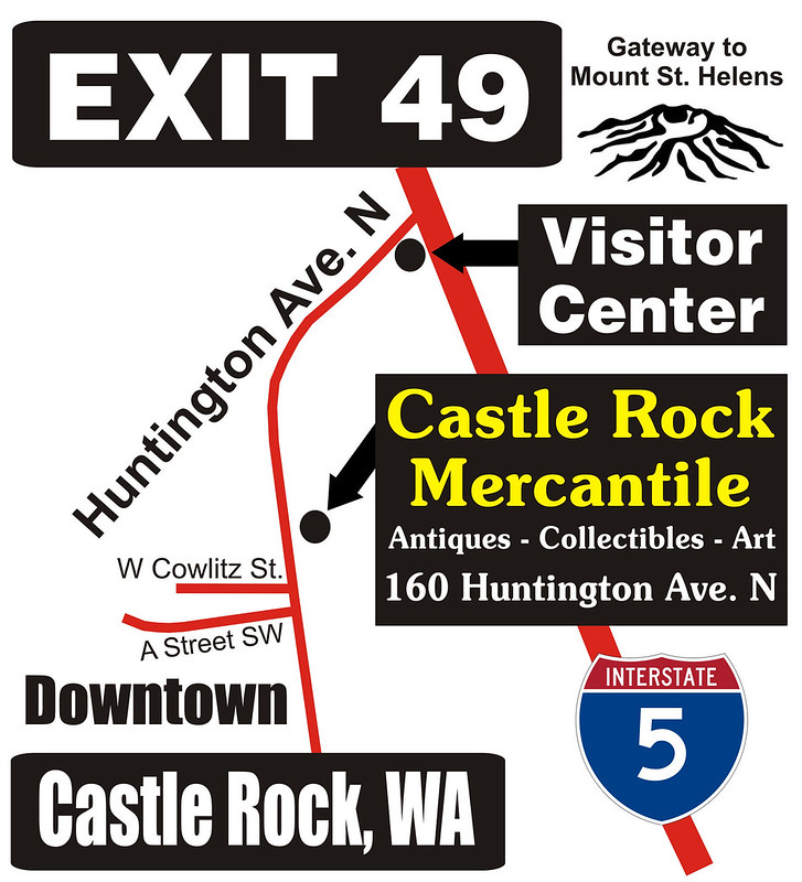 Castle Rock Mercantile Map with Visitor Center