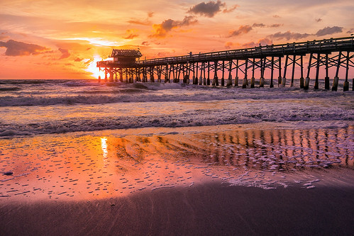 cocoa beach florida pier sony dscrx100 ocean sunrise sunset
