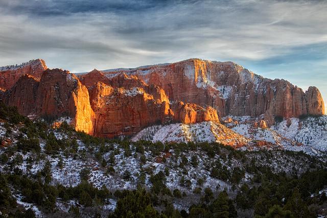 winter - panorama - Kolob Canyon - 1-14-11  02
