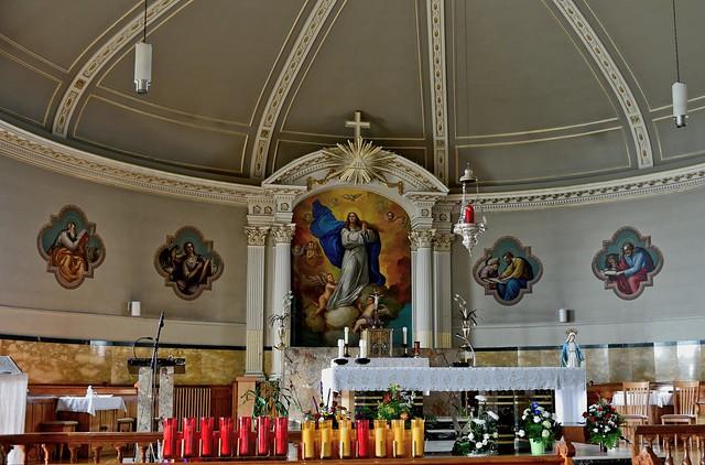 intérieur de l'église l'Assomption-de-la-Sainte-Vierge