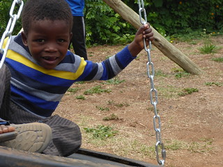 New swing made from a recycled exercise trampoline | by guba.swaziland