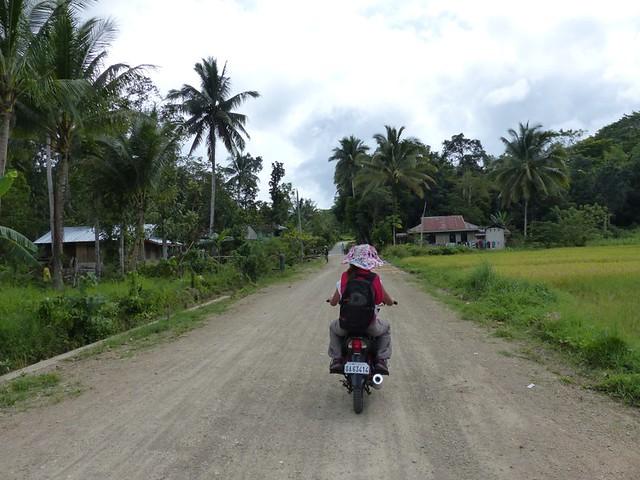 Balade en habal-habal (scooter)