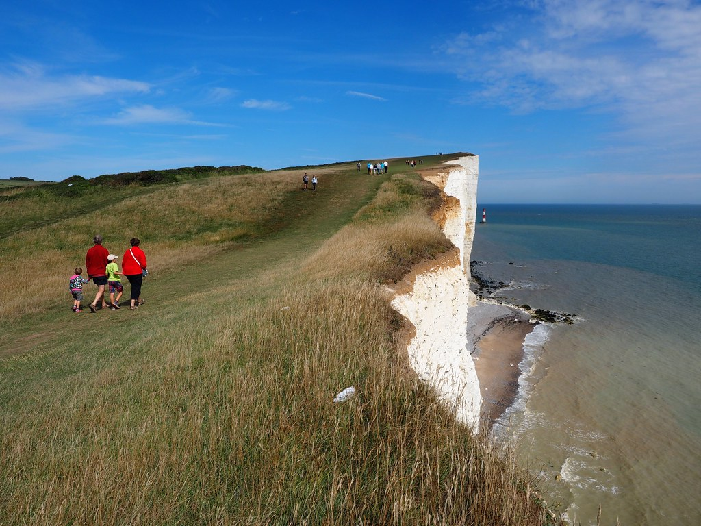 Coastal Margins - Tourists enjoying the coast, Beachy Head, England