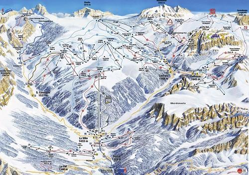 Alta Badia - mapa sjezdovek