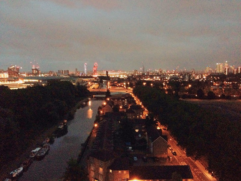 Nguyen, Dana; London, England - From the East to the West, A night view of the Olympic Park