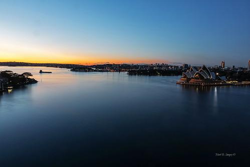 reflection skyline sunrise geotagged photography flickr glare harbour horizon sydney australia nsw sydneyharbour sydneyoperahouse kirribilli markbimagery