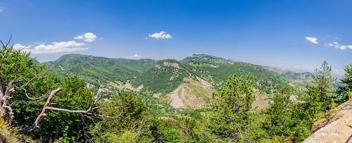 panorama landscape scenery albania korçë dardhë