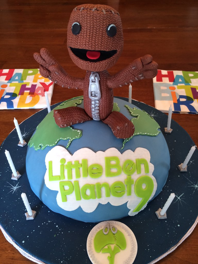 Phenomenal Little Ben Planet Cake With Sackboy Topper Little Big P Flickr Birthday Cards Printable Riciscafe Filternl