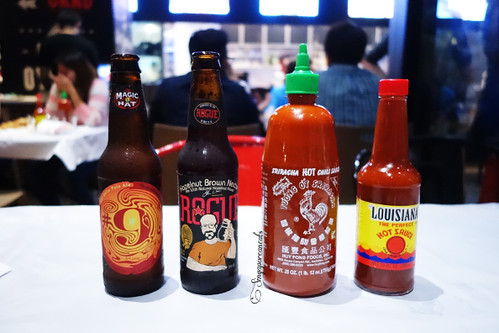 02 Dancing Crab - Bottles of Beer & Hot Sauces   by singaporeaneats
