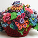 Yarn Bomb Flower Basket