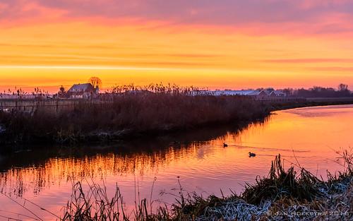 sunrise escharen velp gravenetherlands landschap landscape nikon 1750 sigma morning ochend winter