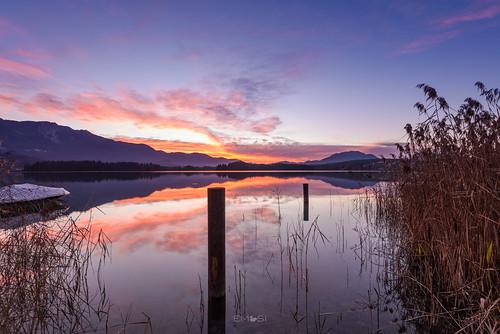 villach kärnten carinthia austria österreich see lake water wasser reflection reflektion nikond800 nikon1635 landschaft landscape sunset sonnenuntergang